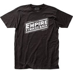 Star Wars - Unisex Empire Strikes Back Logo Fitted Jersey T-Shirt
