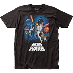 Star Wars - Unisex New Hope Poster Fitted Jersey T-Shirt