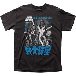 Star Wars - Mens Japanese Monochrome Poster T-Shirt