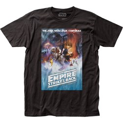 Star Wars - Unisex Esb Poster Fitted Jersey T-Shirt