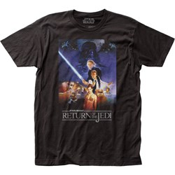 Star Wars - Unisex Rotj Poster Fitted Jersey T-Shirt