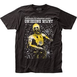 Star Wars - Unisex Polish Poster Fitted Jersey T-Shirt