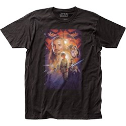Star Wars - Unisex Phantom Menace Poster Fitted Jersey T-Shirt