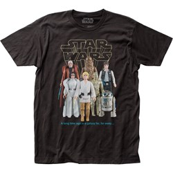 Star Wars - Unisex Good Guy Action Figures Fitted Jersey T-Shirt