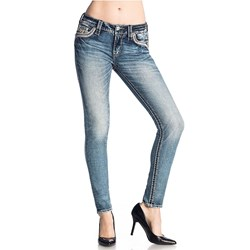 Rock Revival - Womens Pink Lady S201 Skinny Jeans
