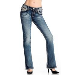 Rock Revival - Womens Aqua Sky Bootcut Jeans