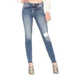 Miss Me - Womens Mid-Rise Skinny Jeans