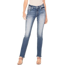 Miss Me - Womens Mid-Rise Straight Jeans