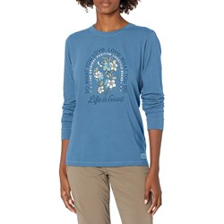 Life Is Good - Womens Do What You Love Flowers Crusher Long Sleeve