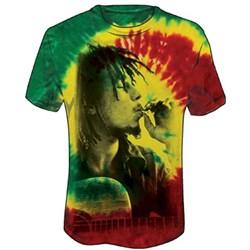 Bob Marley - Rasta Smoke Mens T-Shirt In Tie Dye