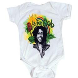 Bob Marley - Rainbow unisex-child Onesie in White