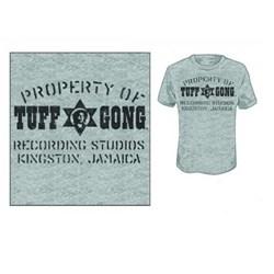 Tuff Gong - Property Of Tuff Gong Mens T-Shirt In Heather Grey