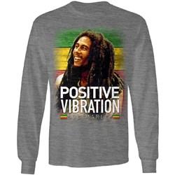 Bob Marley - Mens Positive Vibration Longsleeve T-Shirt