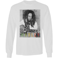 Bob Marley - Mens Strumming Guitar T-Shirt