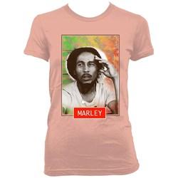 Bob Marley - Womens Floral Stare T-Shirt
