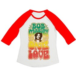 Bob Marley - Mens Groovy One Love Raglan Shirt