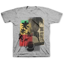 Bob Marley - Little Kids Palm Tree Guitar T-Shirt