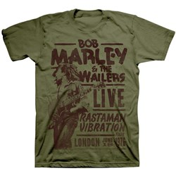 Bob Marley - Mens Rastaman Live In London T-Shirt