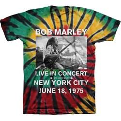 Bob Marley - Mens Live In Nyc Tie Dye T-Shirt