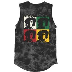 Bob Marley - Womens Faces Tie Dye Tank Top
