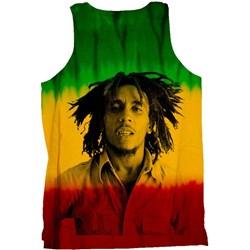 Bob Marley - Mens Portrait Dip Dye Tank Top