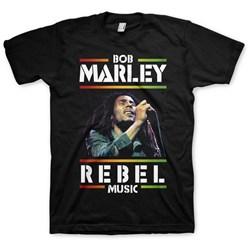 Bob Marley - Mens Rebel Music T-Shirt
