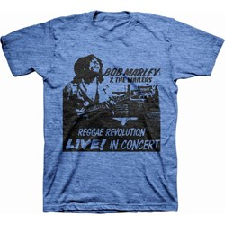 Bob Marley - Mens Reggae Revolution Live T-Shirt