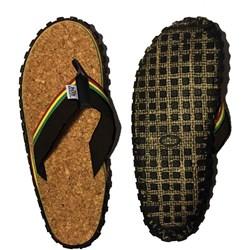 Bob Marley - Mens Cork 3 Flip Flops