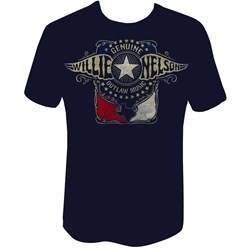 Willie Nelson - Mens Outlaw Wings T-Shirt