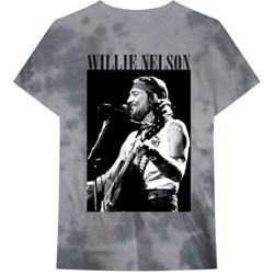 Willie Nelson - Mens Black & White Tie Dye T-Shirt