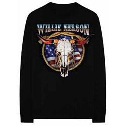 Willie Nelson - Mens Longhorn Americana Long Sleeve T-Shirt