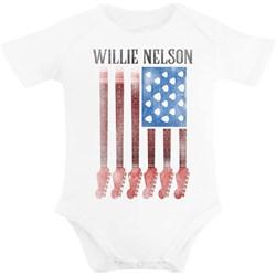Willie Nelson - Infants Guitar Flag Onesie