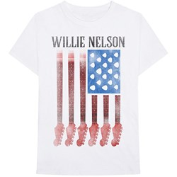 Willie Nelson - Little Kids Guitar Flag T-Shirt