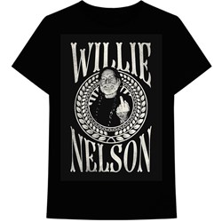 Willie Nelson - Mens Finger Crest T-Shirt