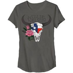Willie Nelson - Mens Texas Skull Junior'S T-Shirt