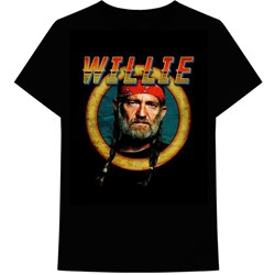 Willie Nelson - Mens Circle Sign T-Shirt