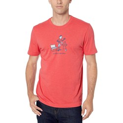 Life Is Good - Mens Vintage Crusher Chillin' & Grilli T-Shirt