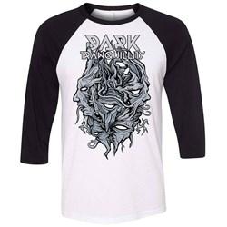 Dark Tranquillity - Mens Encircled Logo Dt Black & White Raglan T-Shirt