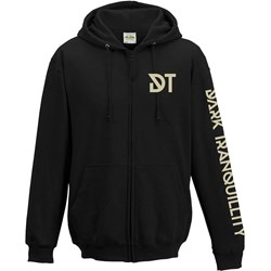 Dark Tranquillity - Mens Skull Ls Logo Black Zip Hoodie