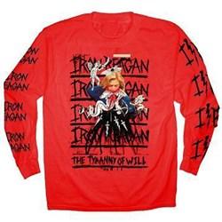 Iron Reagan - Mens Hillary Red Long Sleeve T-Shirt