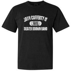 John Cafferty - Mens Distressed White Logo T-Shirt