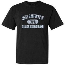 John Cafferty - Mens Distressed Blue Logo T-Shirt