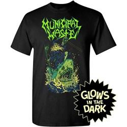 Municipal Waste - Mens Glow Shark Black T-Shirt