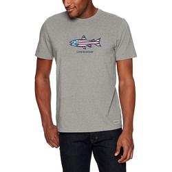 Life Is Good - Mens Crusher Flag Fish T-Shirt
