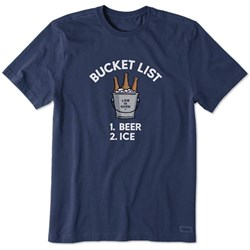 Life Is Good - Mens Bucket List Crusher T-Shirt