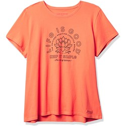 Life Is Good - Womens Short Sleeve Crusher Cre Simple Lotus T-Shirt
