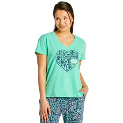 Life Is Good - Womens Superpower Love Snuggle Up Relaxed Sleep V Neck T-Shirt