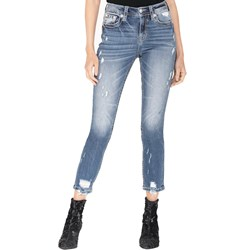 Miss Me - Womens High-Rise Slim Straight Jeans