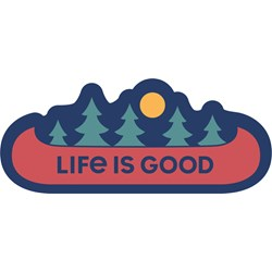 Life Is Good - Decal Canoe Landscape Die Cut Stickers