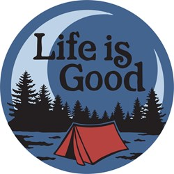 Life Is Good - 4 Circle Stic Lig Camp Scenic Graphic Stickers